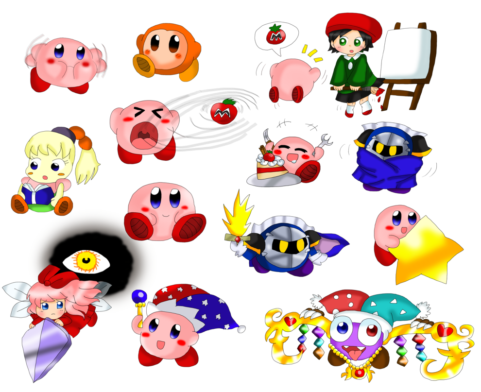 Clipart fireworks doodle. Kirby page by purplemagechan