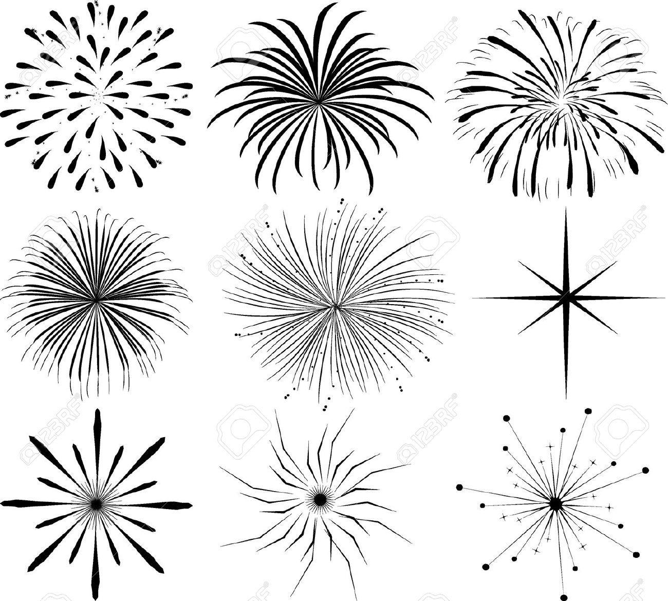 Clip art fireworks google. Firework clipart easy