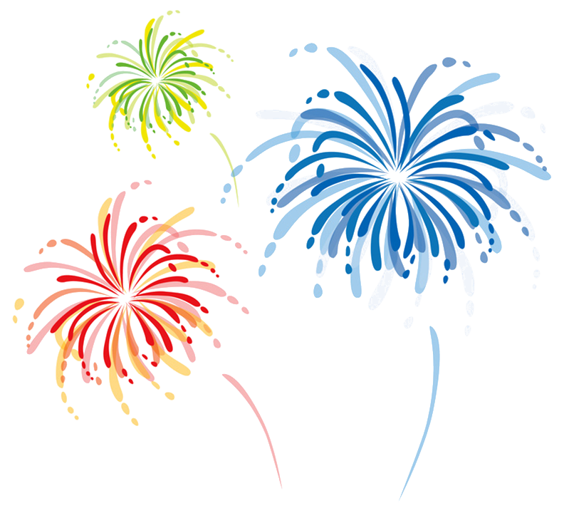 Clipart fireworks family event.