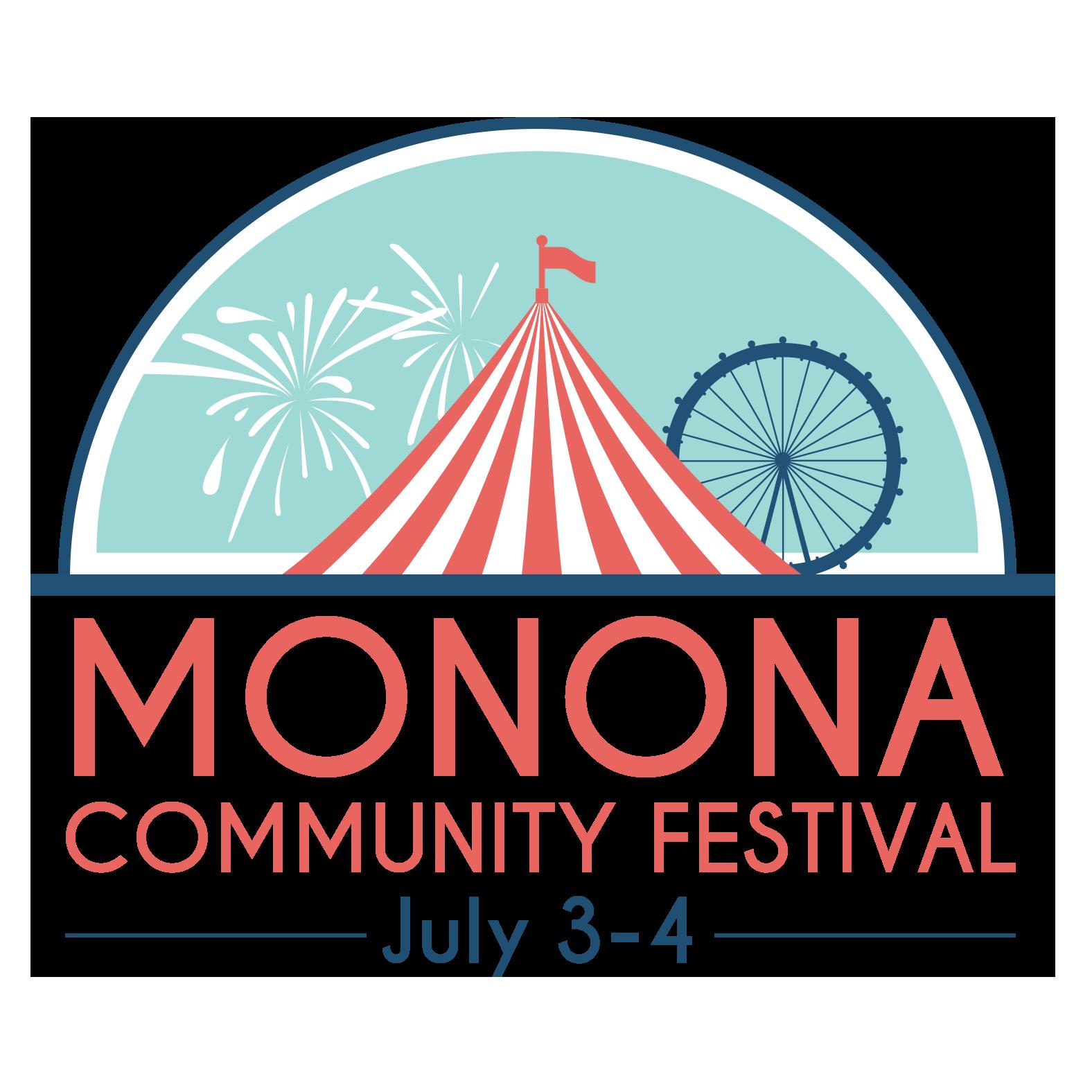 Monona community festival july. Clipart fireworks family event