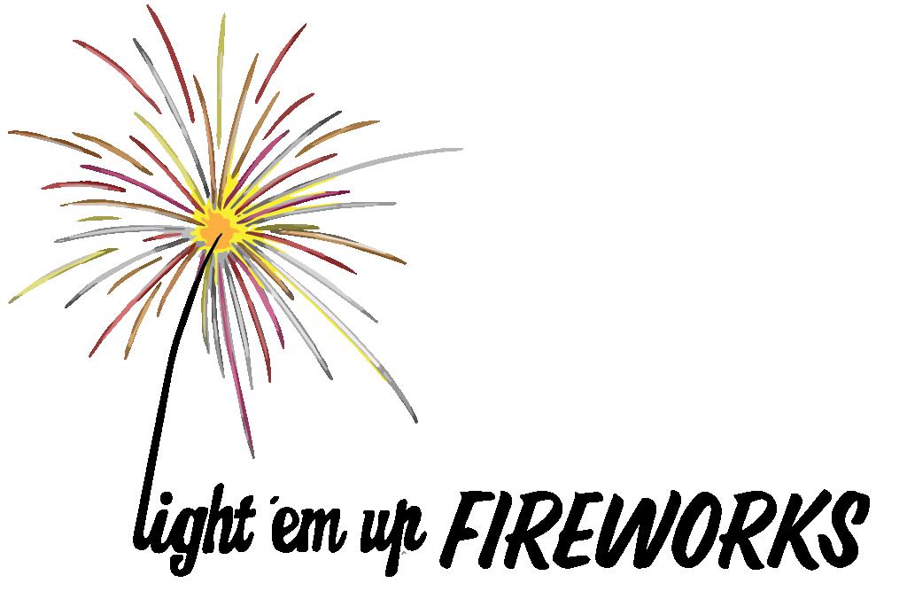Light em up bundaberg. Clipart fireworks family event