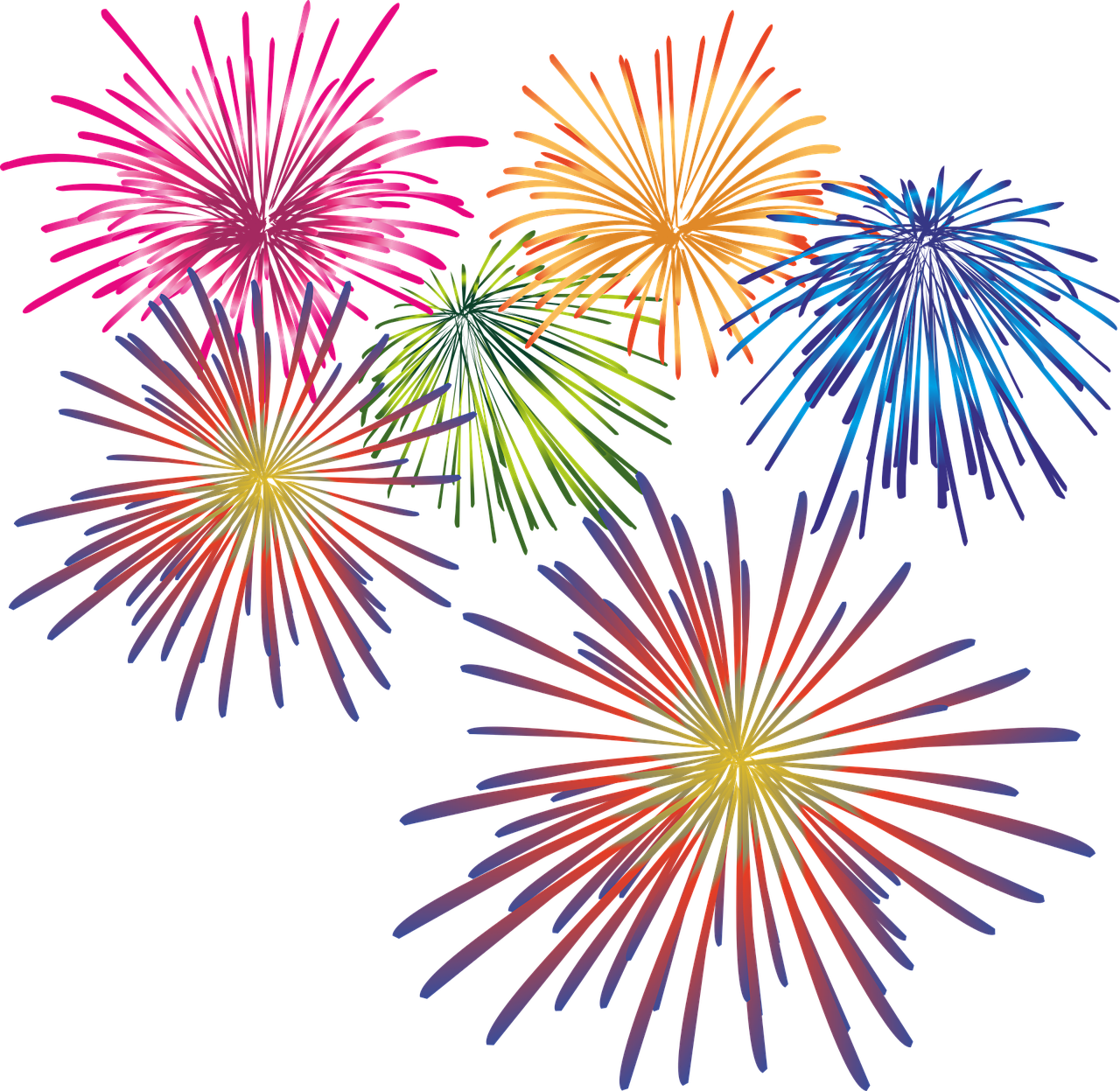 Clipart fireworks family event. Writing and other life