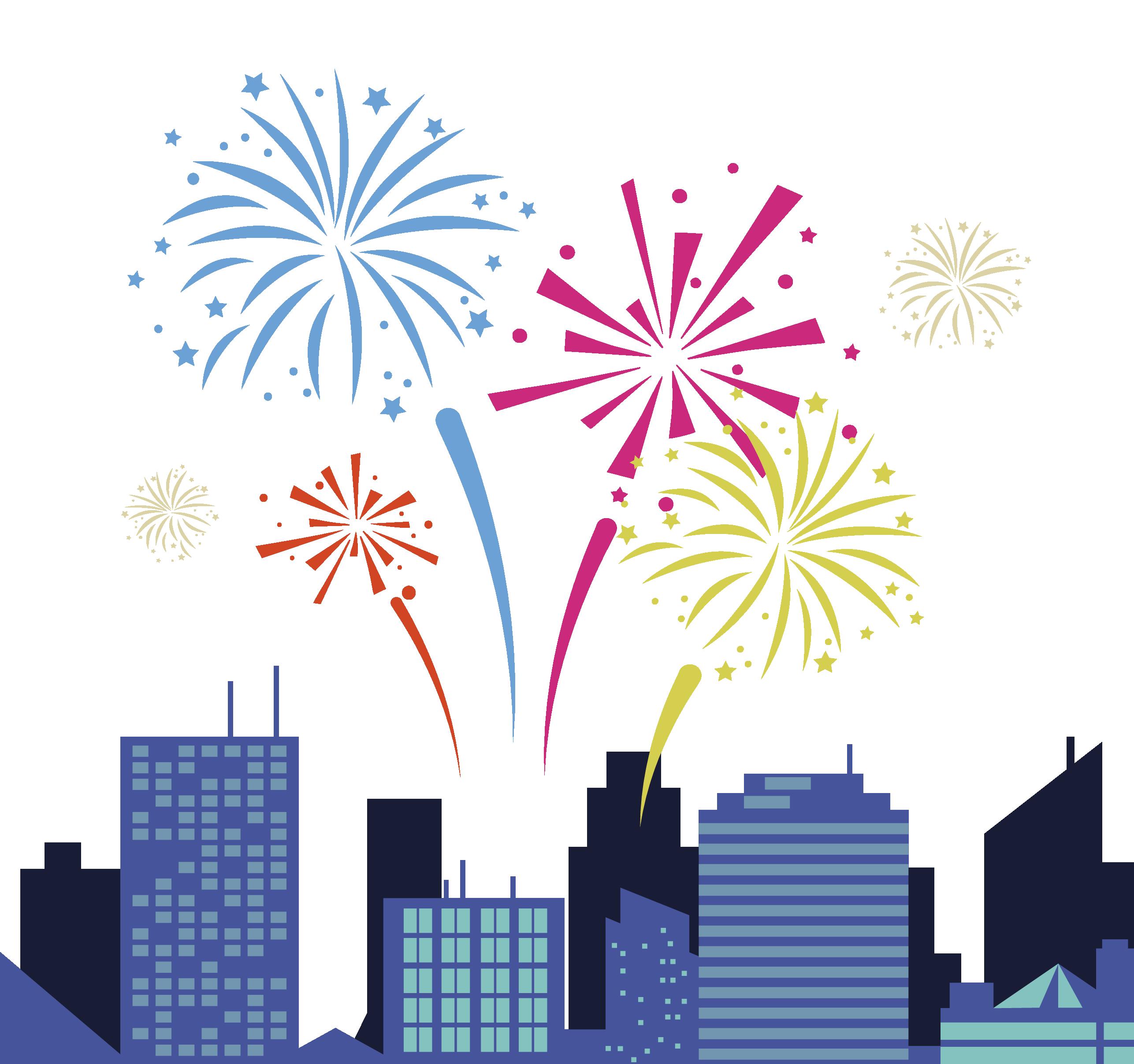 Festival fireworks carnival festive. Firework clipart festivity