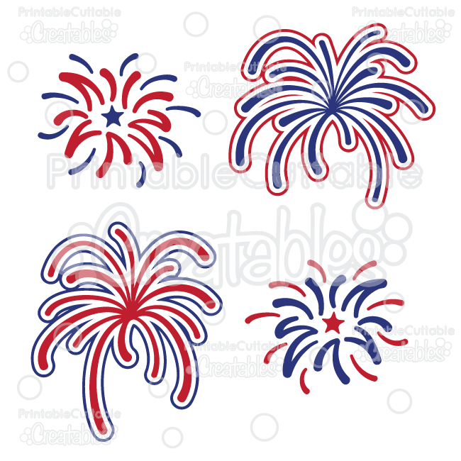 Fireworks free cutting file. Firecracker clipart svg