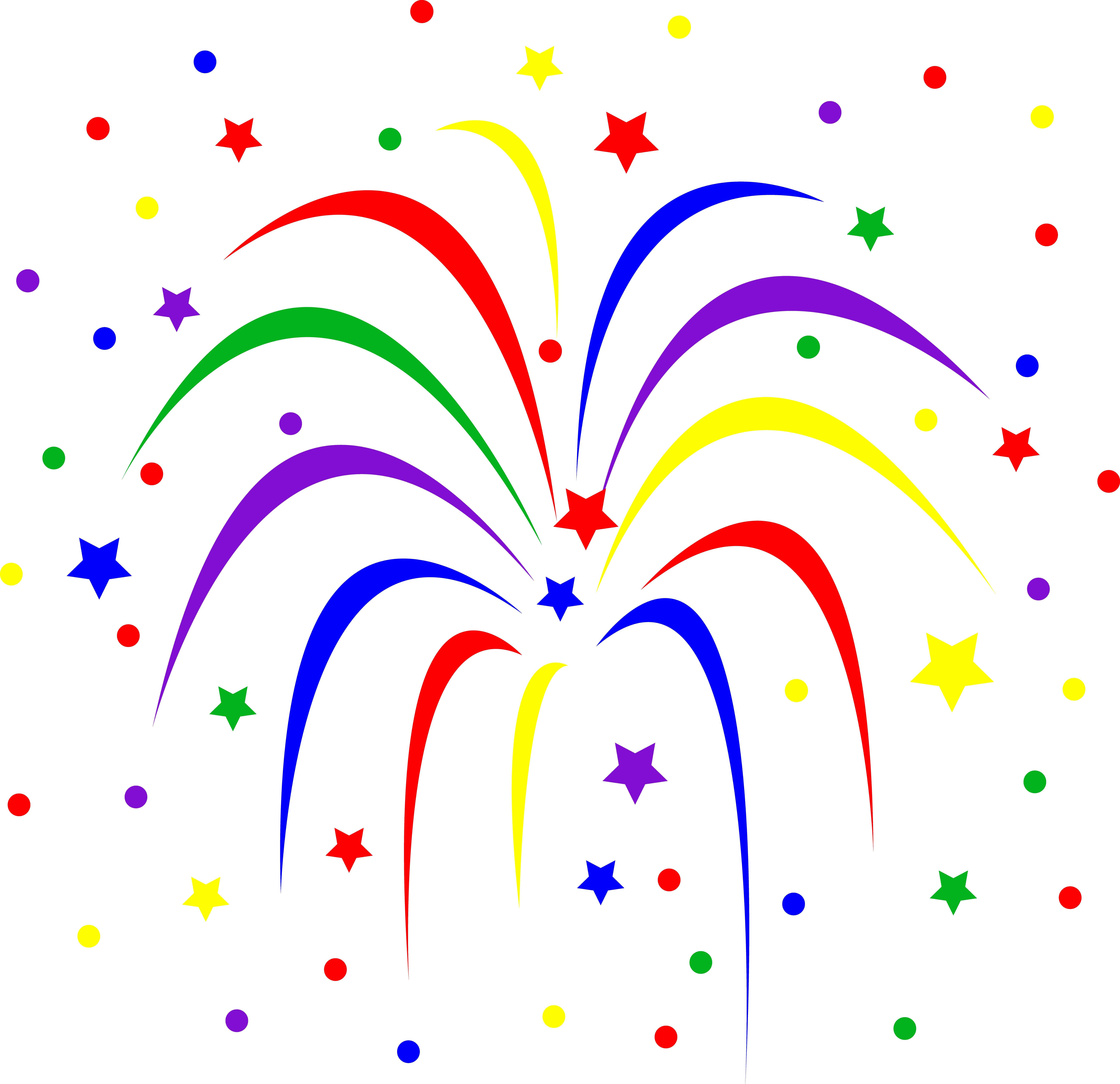 Clipart fireworks fire works.  th of july