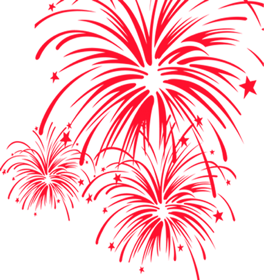 Clipart fireworks firework chinese. New year clip art