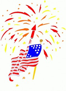 Fireworks clipart flag. American free wikiclipart