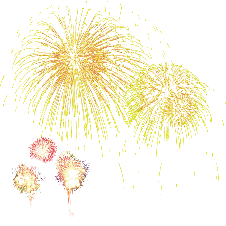 Tangyuan lantern festival fireworks. Firework clipart yellow