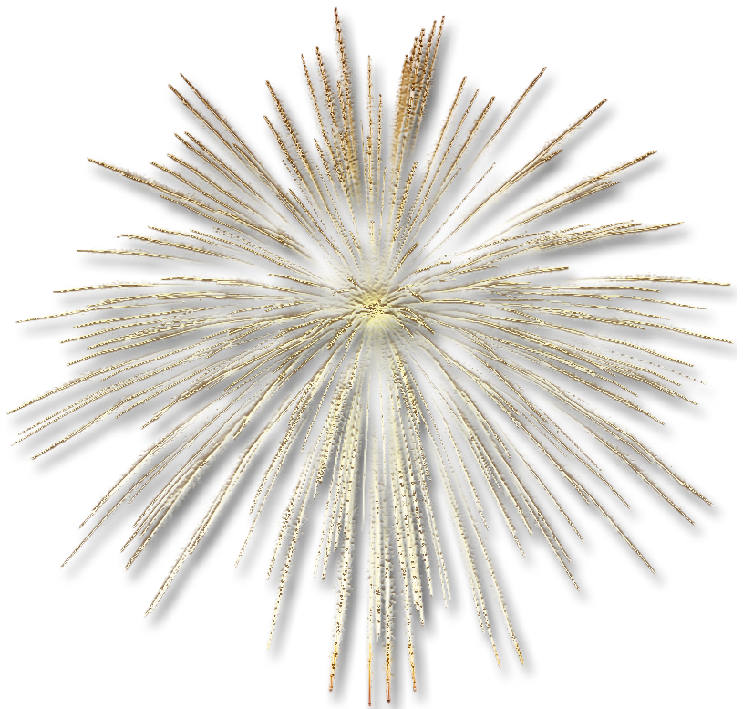 Clipart fireworks gold. Transparent effect gallery yopriceville