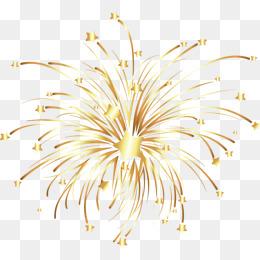 Station . Fireworks clipart gold