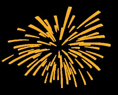 Fireworks clipart gold. Firework golden wikiclipart
