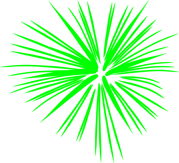 Green Fireworks Clip Art at Clker