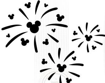 Etsy . Clipart fireworks mickey
