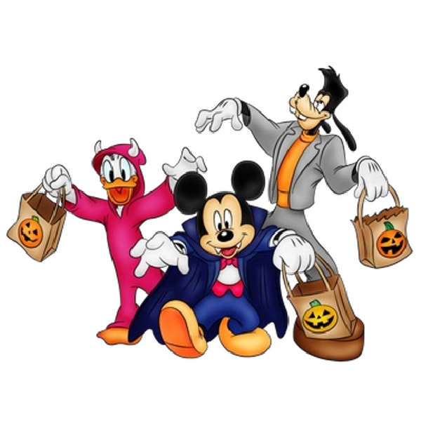 And friends halloween png. Clipart fireworks mickey mouse