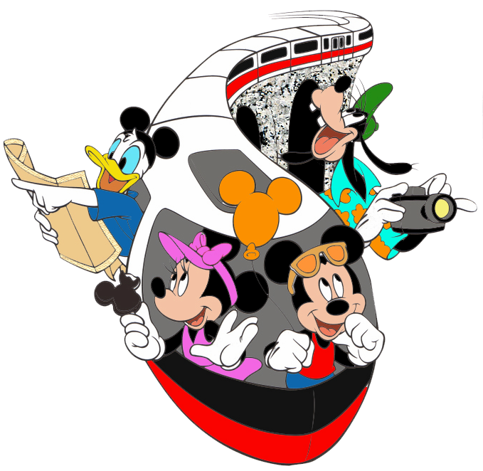 Dismonorail png pixels disney. Clipart fireworks mickey mouse