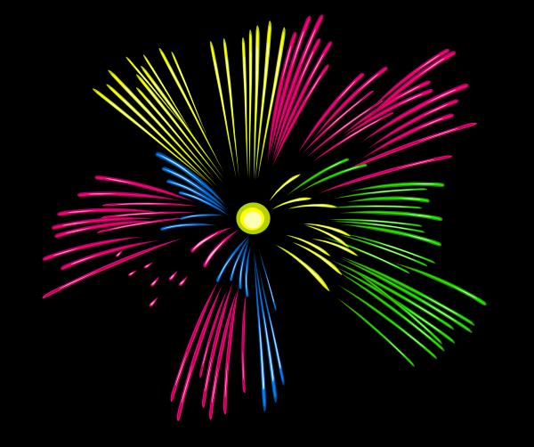Clipart fireworks motion. Mulit colour clip art