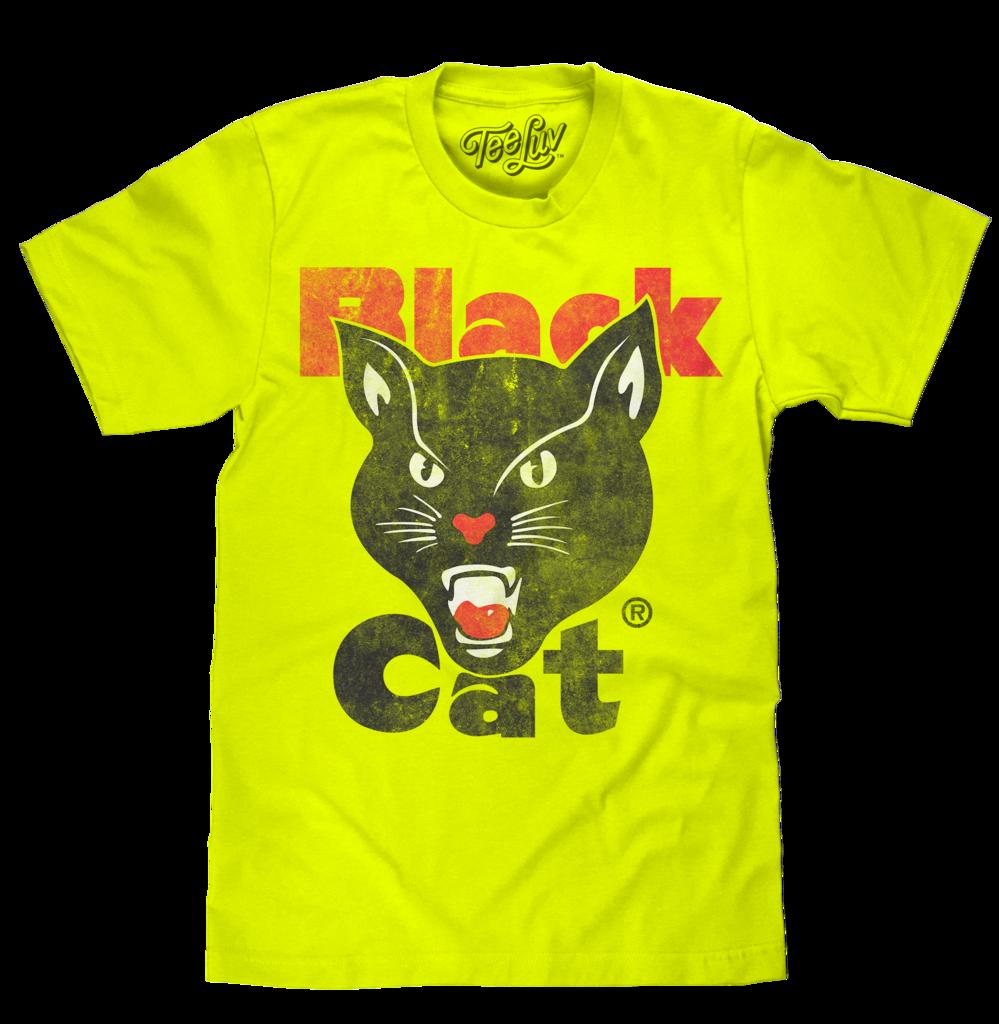 Firework clipart neon. Black cat fireworks yellow