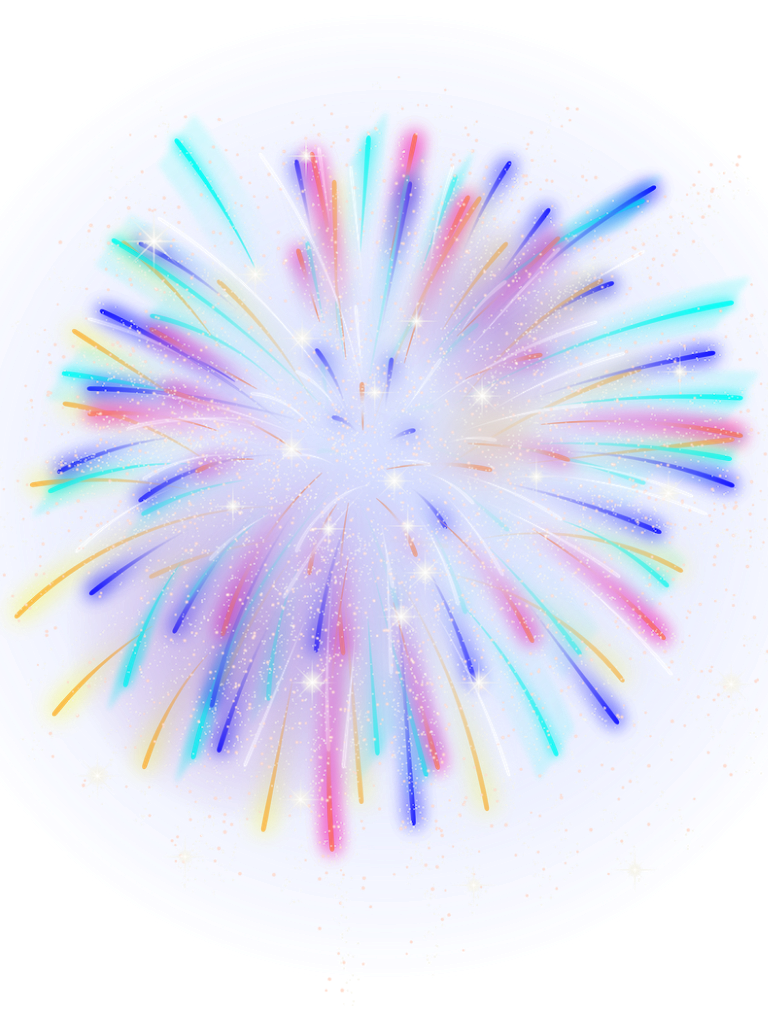 fireworks neon colorful floral sparkle