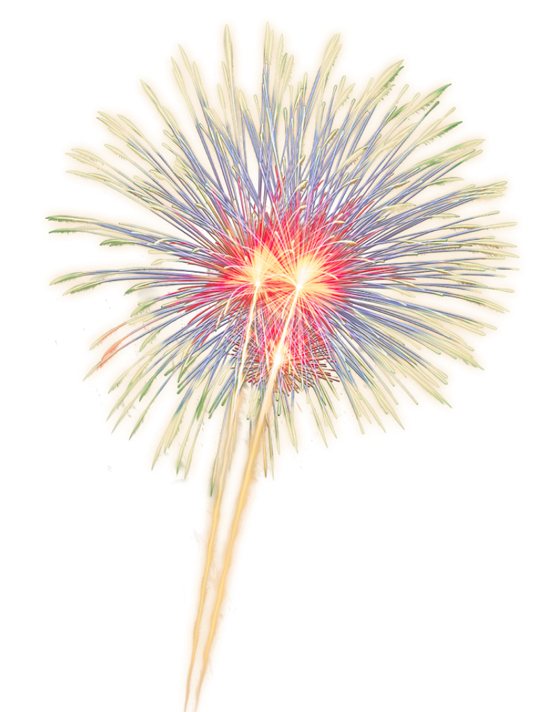 Firework clipart neon. Fireworks colorful sparkle lightup