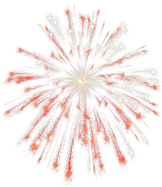 clipart fireworks orange #71191081