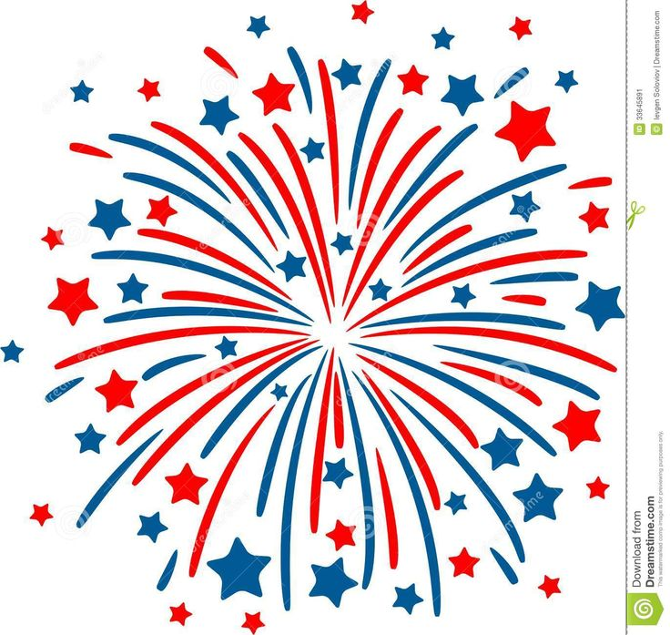 Fourth of july free. Clipart fireworks parade
