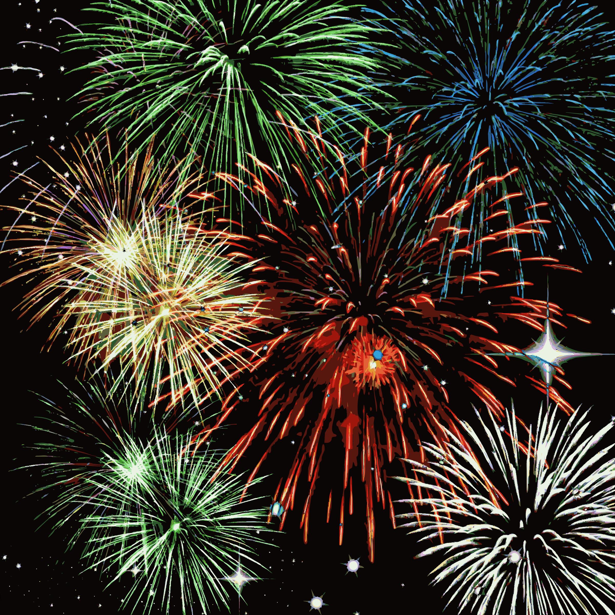 Fireworks. Firework clipart fire works