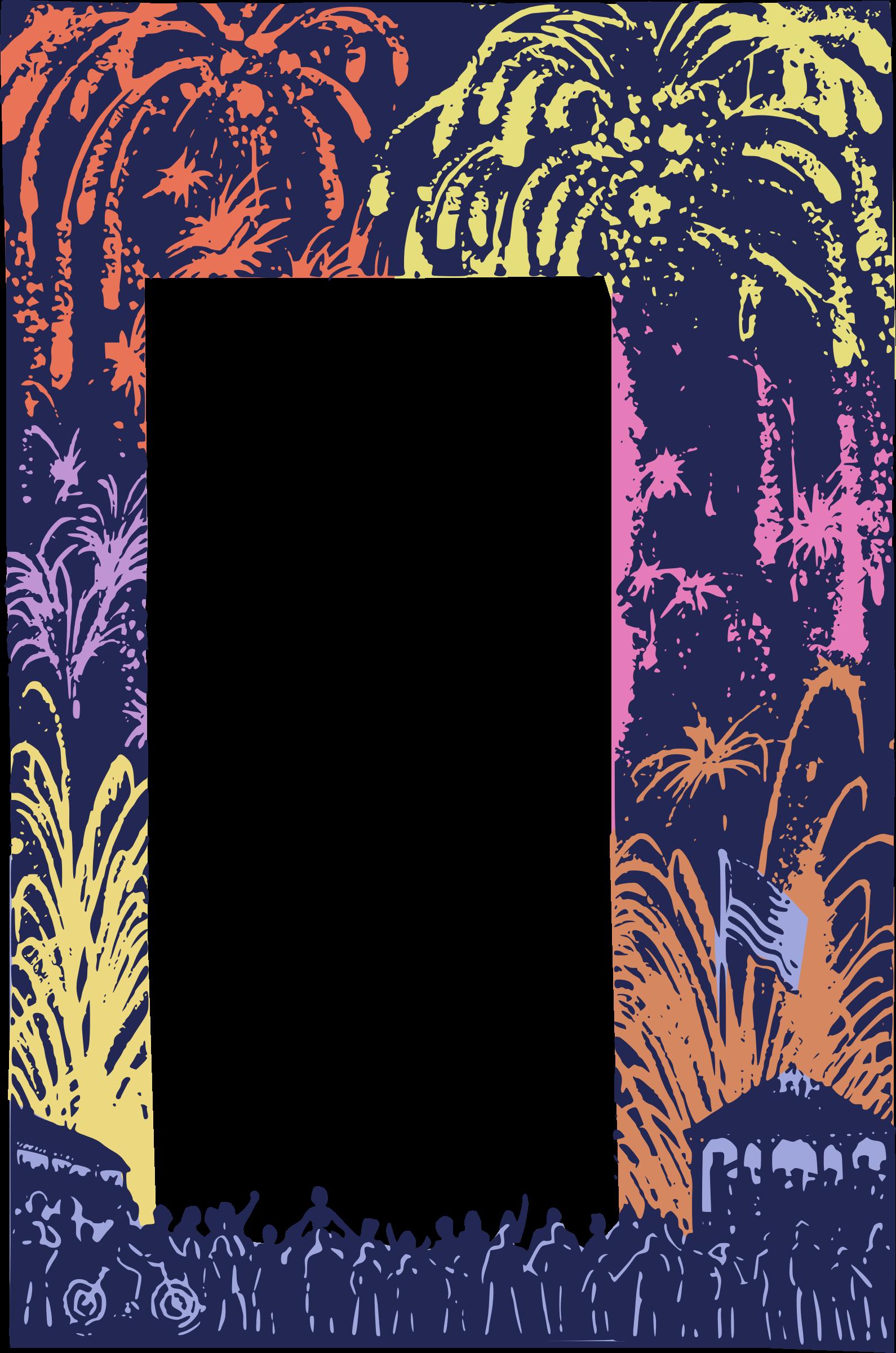 Frame big image png. Clipart fireworks pdf