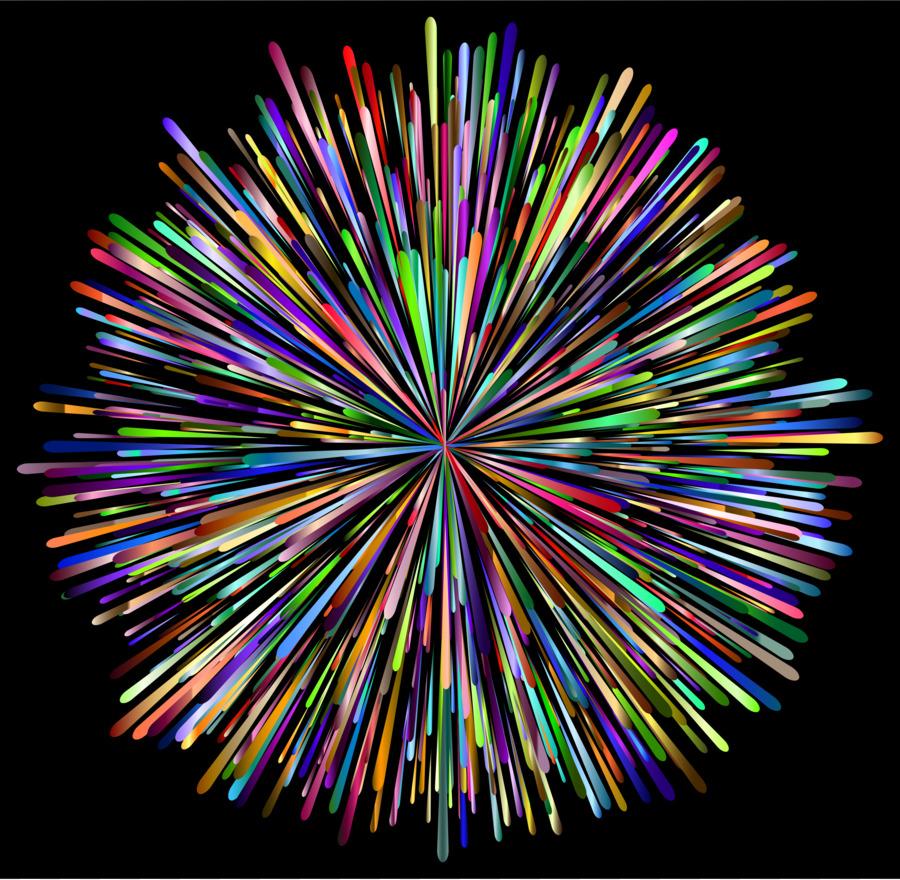 Download free png fireworks. Firecracker clipart rainbow