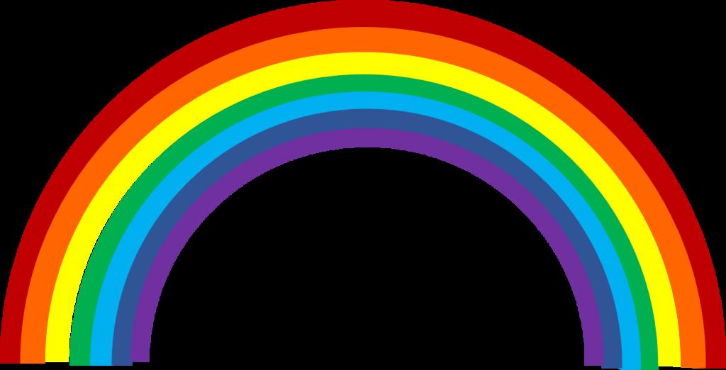 Pretty design vector clip. Clipart rainbow printable