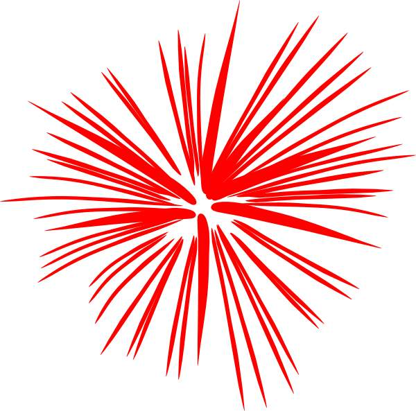 Firework clipart red. Fireworks clip art wikiclipart