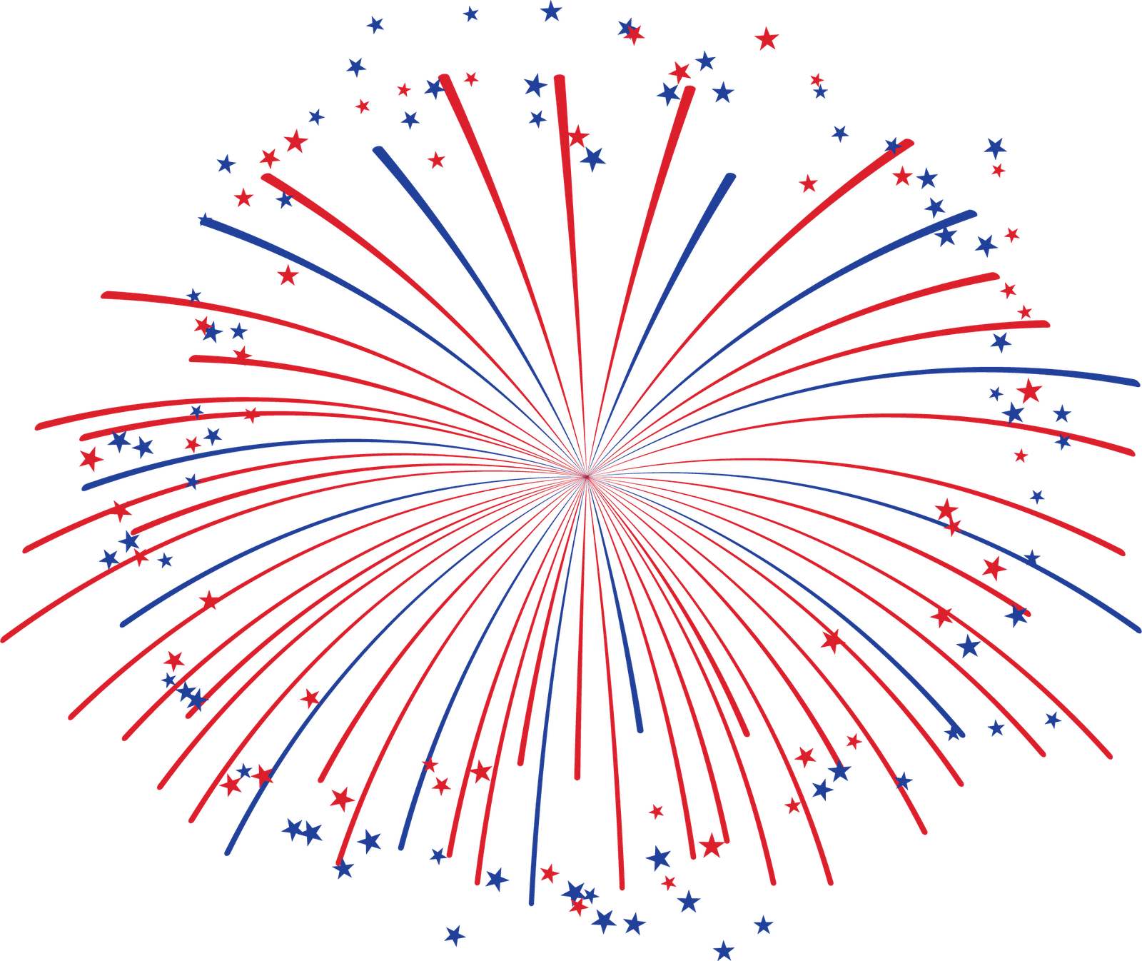 Red and Blue Fireworks transparent PNG