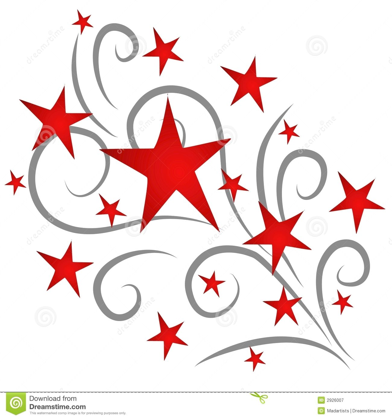 Stars red royalty free. Fireworks clipart shooting star
