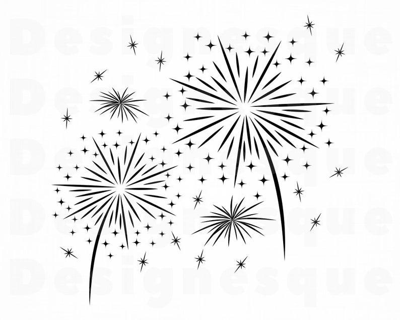 Firework clipart silhouette. Fireworks svg celebration cut