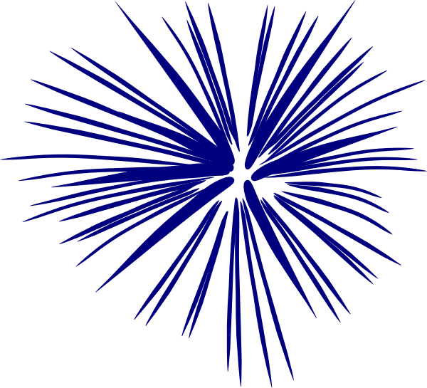 Clipart fireworks simple. Navy blue single clip