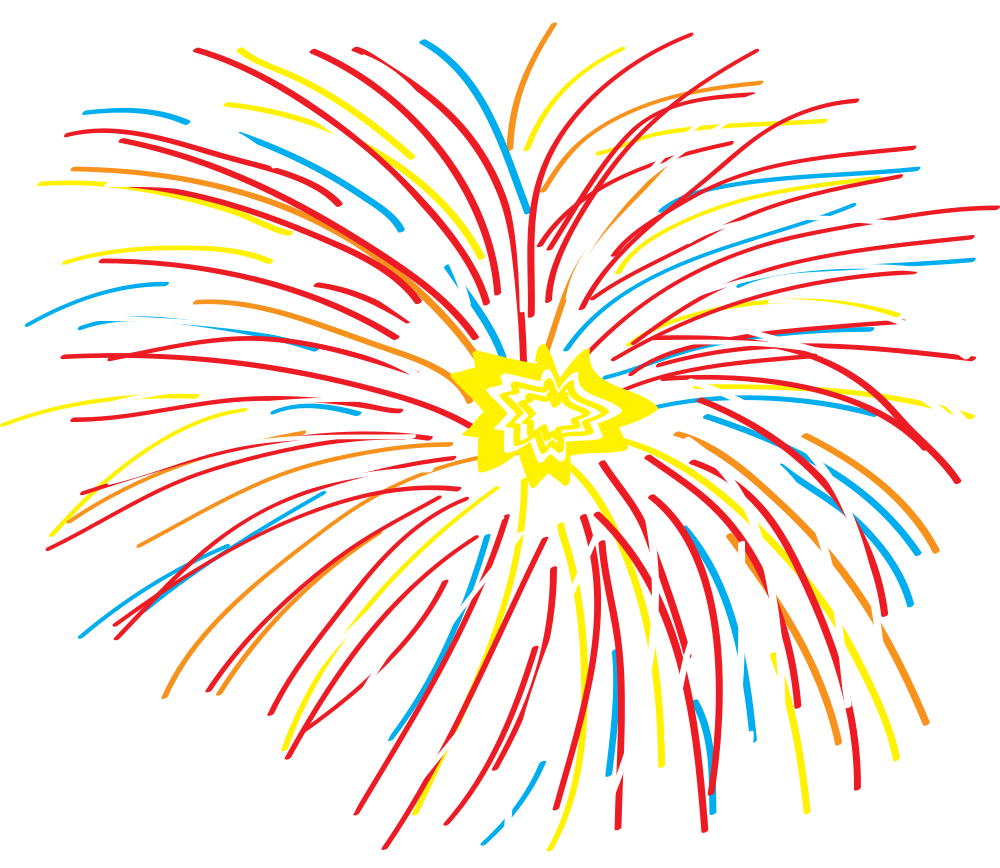 Fireworks clipart easy. Onlinelabels clip art abstract