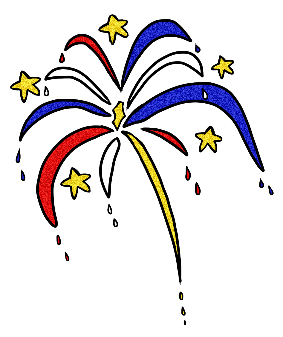 Clip art by carrie. Clipart fireworks simple
