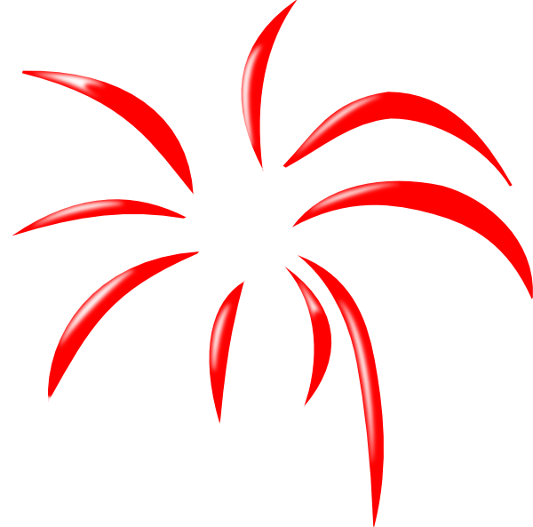 Red Simple Firework Clip Art at Clker