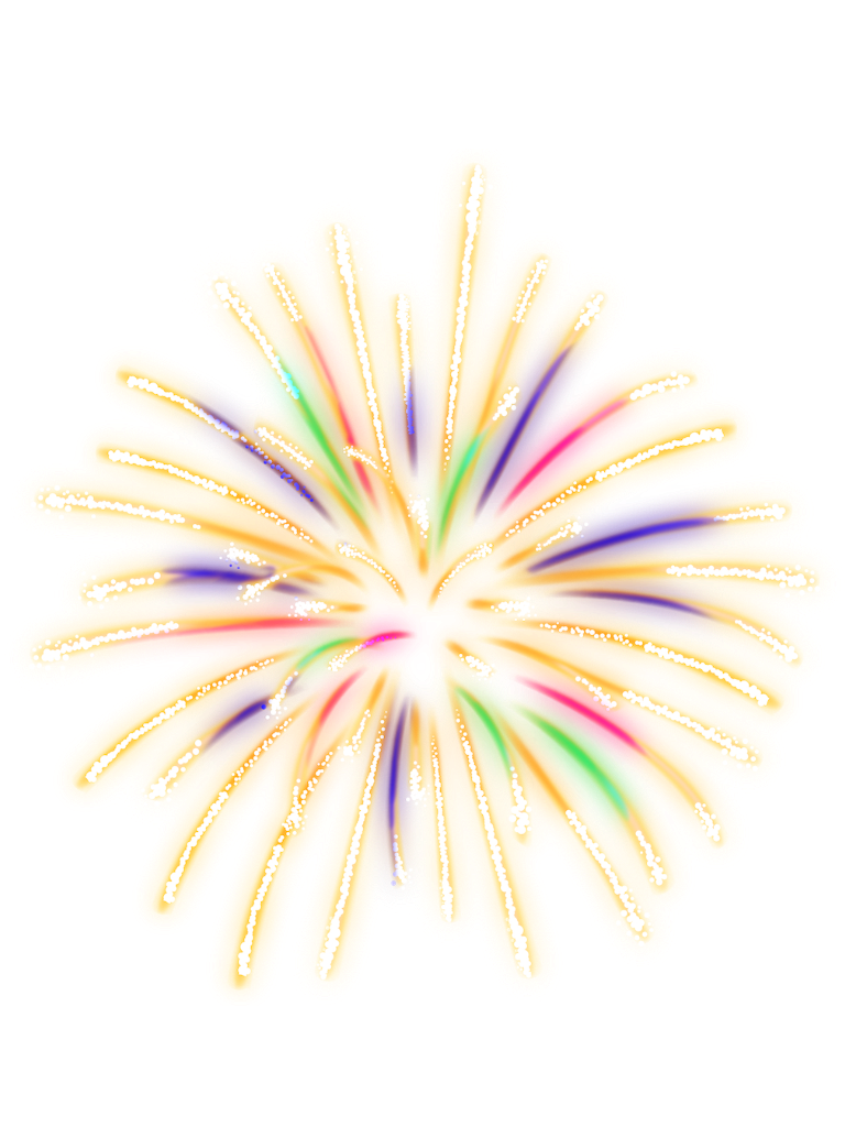 Neon colorful lightup report. Clipart fireworks sparkle