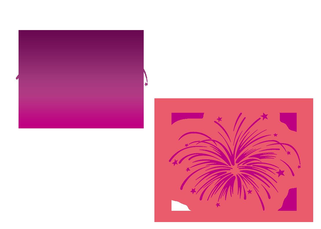 Fuegos artificiales de dibujo. Clipart fireworks stencil