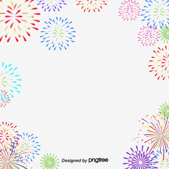 Colorful cartoon jubilation png. Clipart fireworks summer