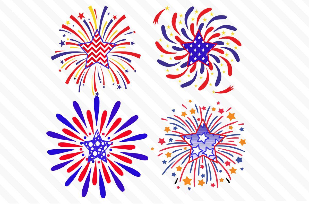 Th of july sv. Clipart fireworks svg
