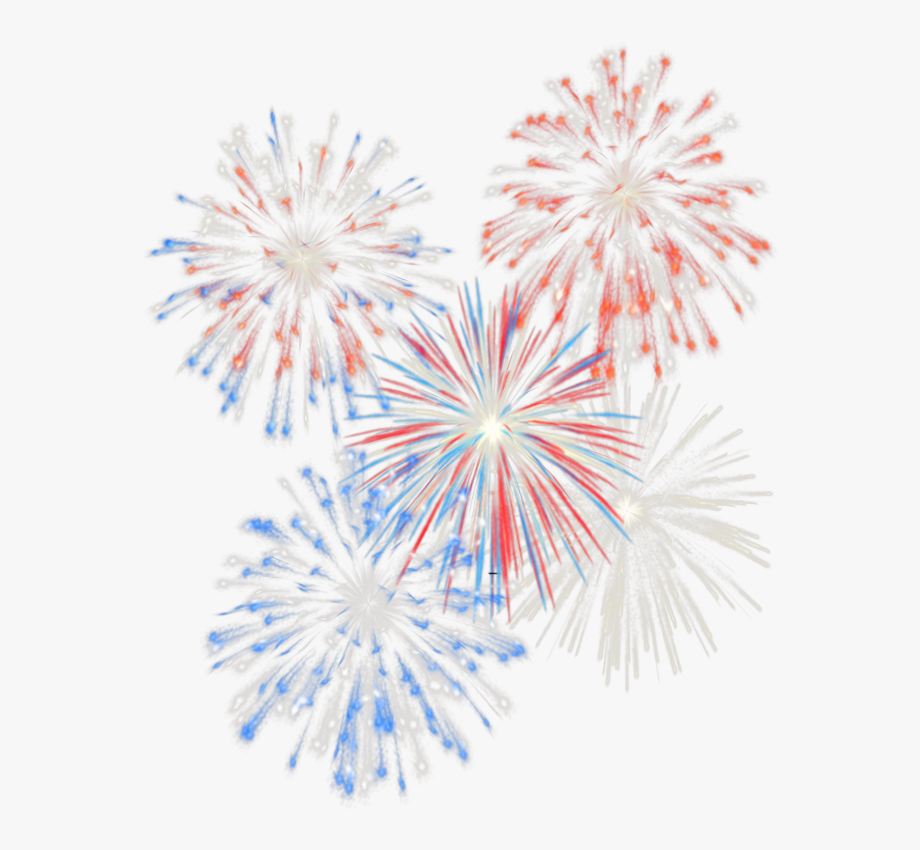 Clipart fireworks transparent background. Th of july