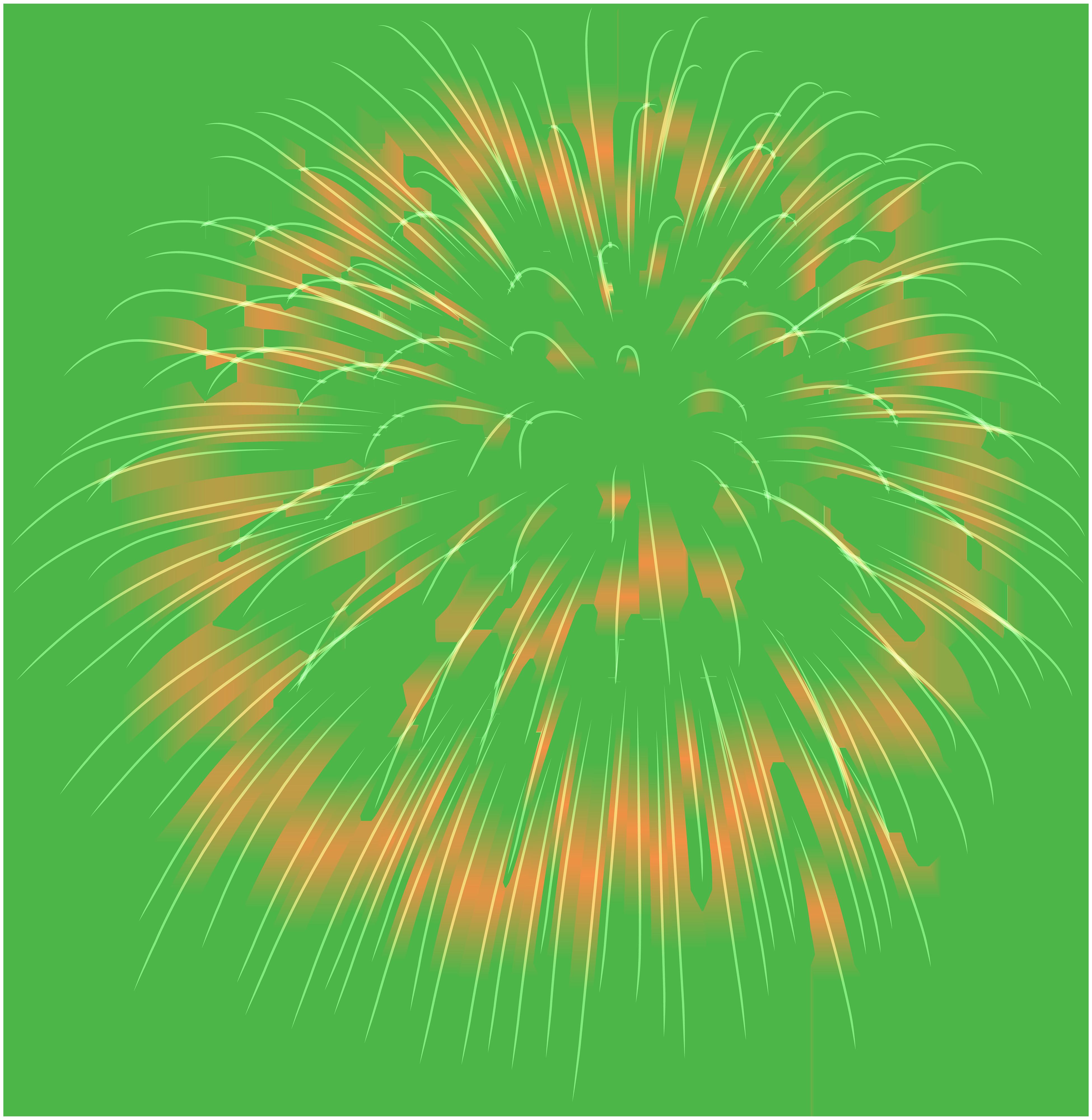 Firework green png image. Clipart fireworks transparent background