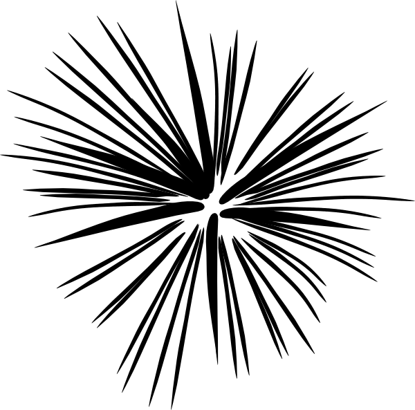 Black And White Fireworks Clip Art at Clker