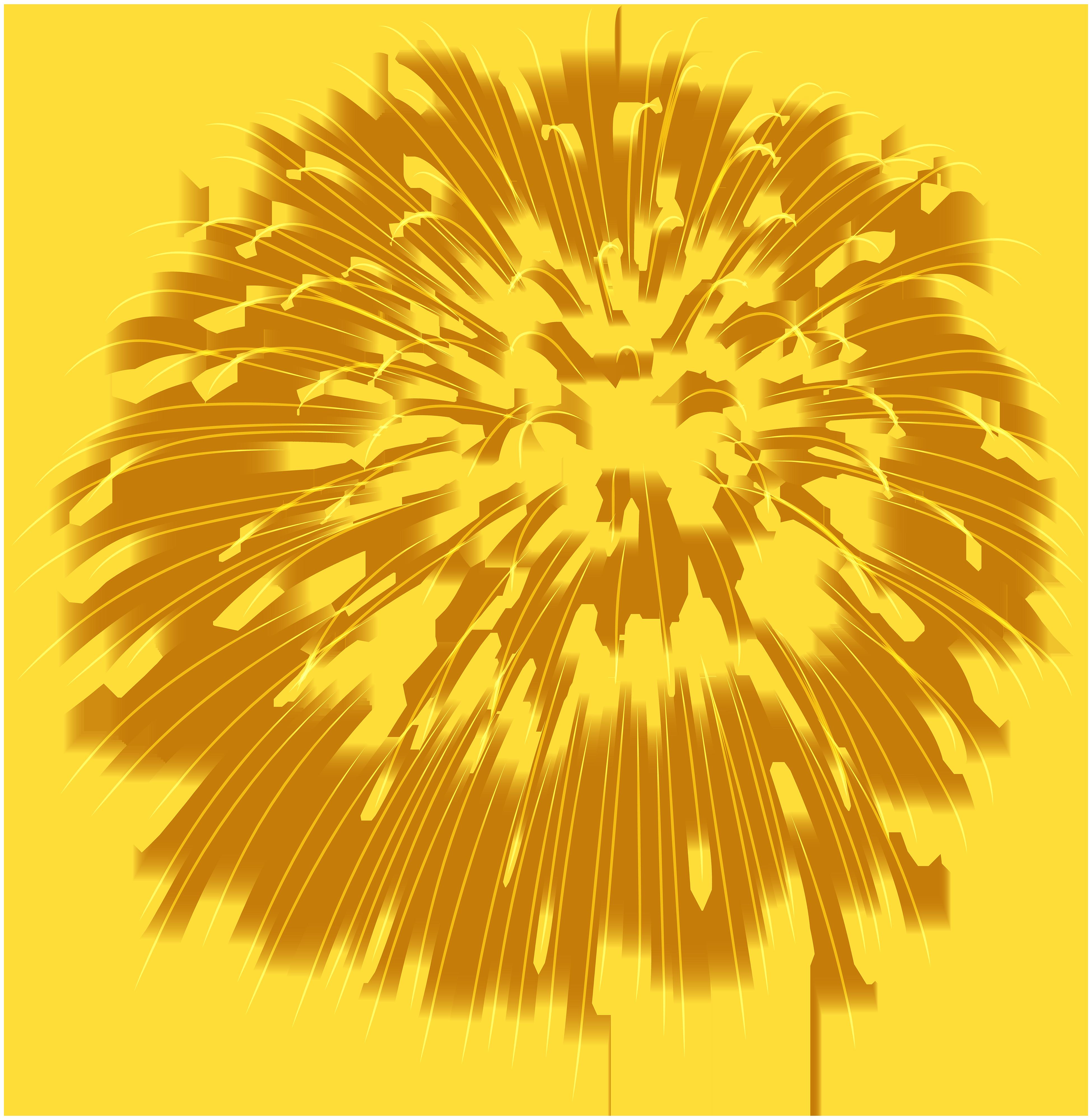 Firework yellow transparent png. Clipart fireworks wallpaper