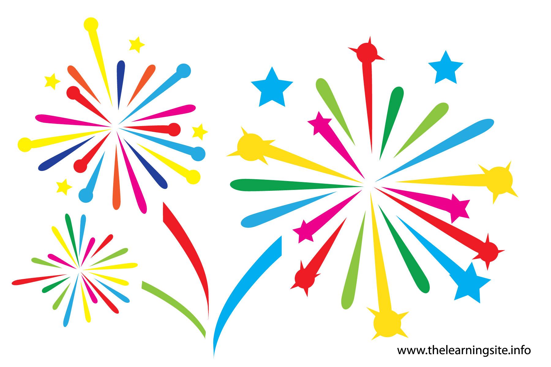 Free clip art download. Firework clipart rainbow