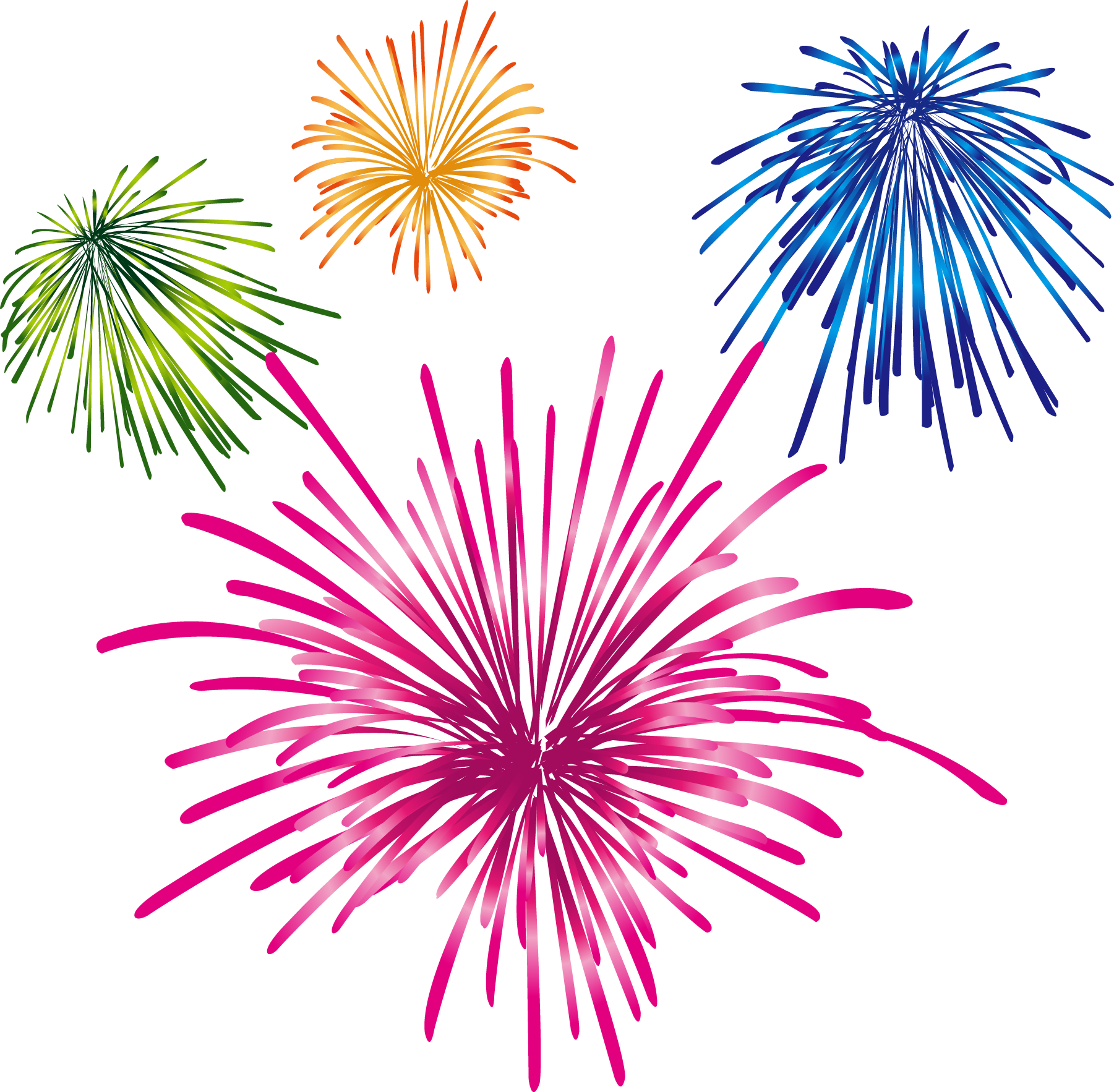 Clipart fireworks watercolor. Cartoon colorful transprent png