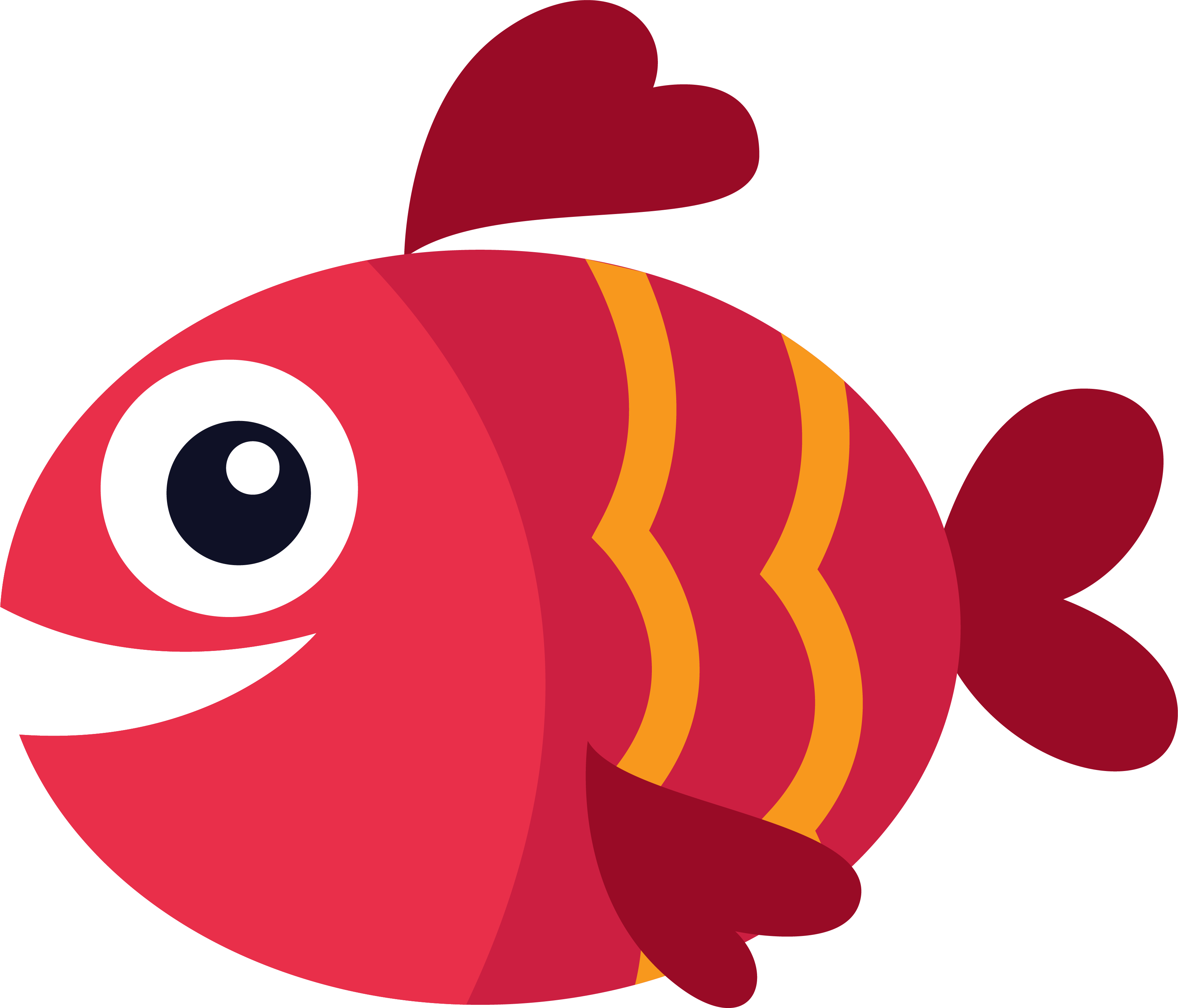 Red blue at getdrawings. Fish clipart