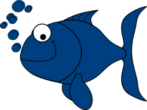 Clipart fish. Blue clip art at