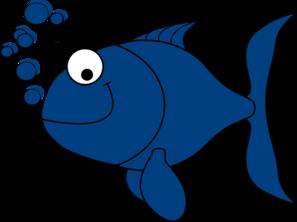 Blue clip art at. Clipart fish